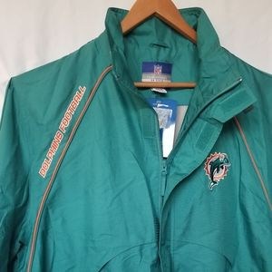 NWT Miami Dolphins windbreaker jacket XL